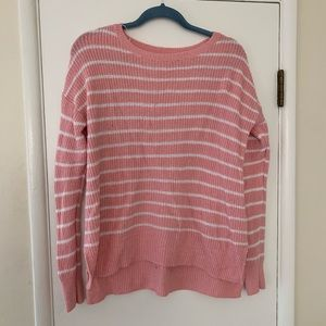 Sweater, pink and white stripes
